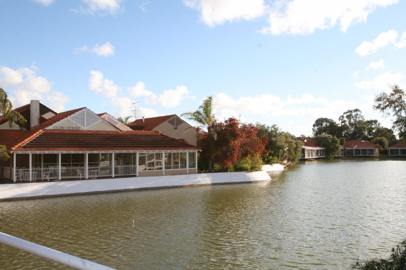Club house as viewed from the bridge